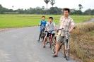 ขี่จักรยานที่บ้านสามชุก